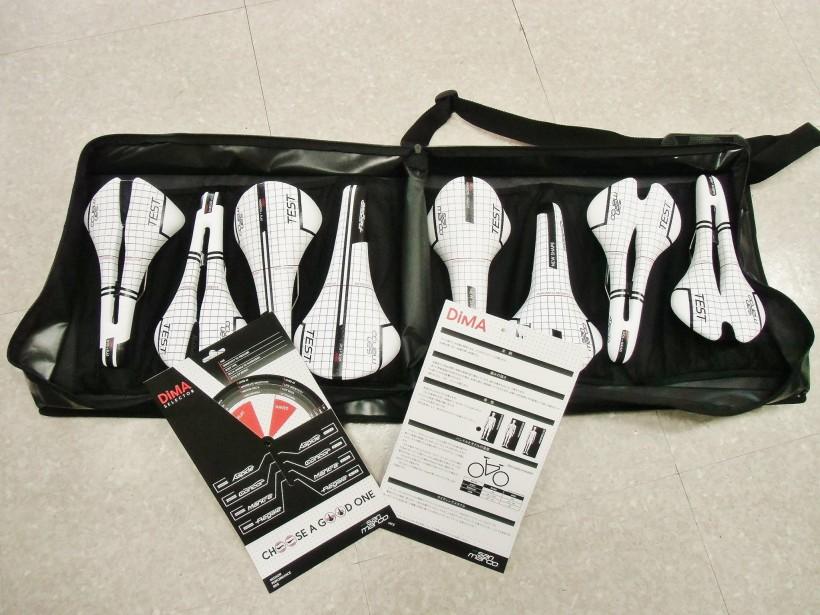 Le kit d'essai des selle SAN MARCO disponible chez L'échappée belle
